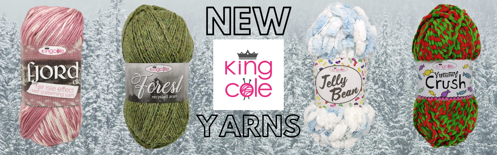 New In King Cole hand knitting yarns and wools
